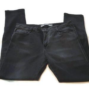 Zara Trafuluc Premium Wash Black Faded Baggy Jeans